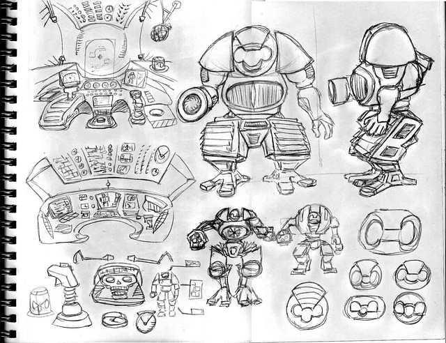 White RobotSketches